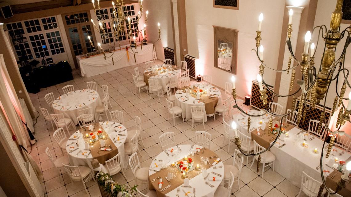 salle de mariage décorée du manoir de tigeaux