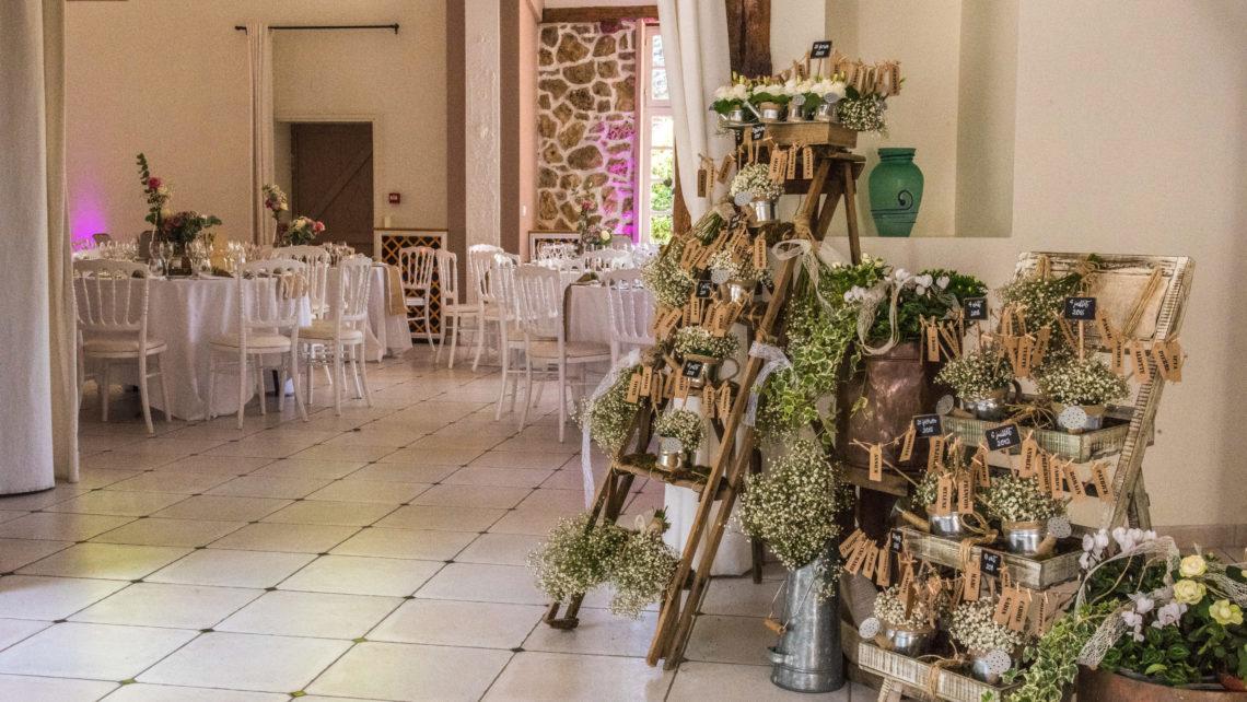 entrée-fleurs-déco-tables-salle-de-réception-manoir-de-tigeaux-77
